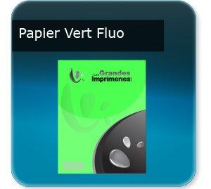 affichette promo Papier vert fluoo