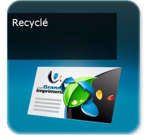 carton invitation personnalisé Recyclé écologique