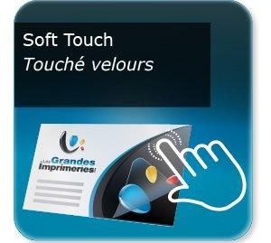carton invitation personnalisé Pelliculage Mat SOFT TOUCH