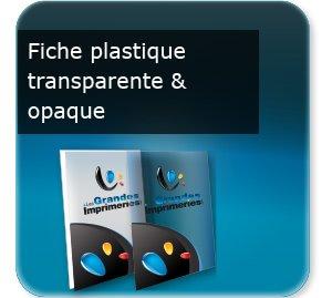 Lettre municipale Fiche document en plastique transparent ou opaque