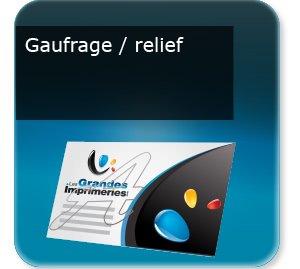 Lettre municipale Gaufrage relief