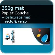 marque page plastique transparent 350g mat + pelliculage mat recto verso