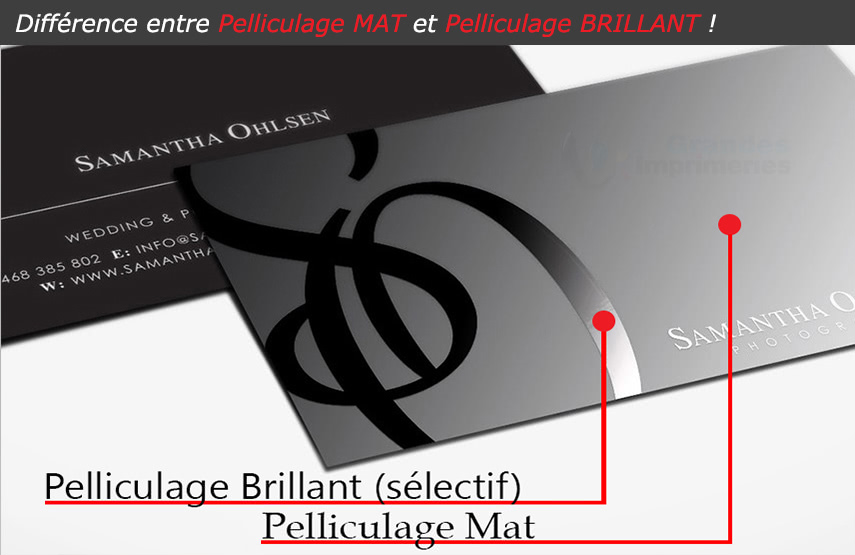 2 Difference Pelliculage Mat Brillant