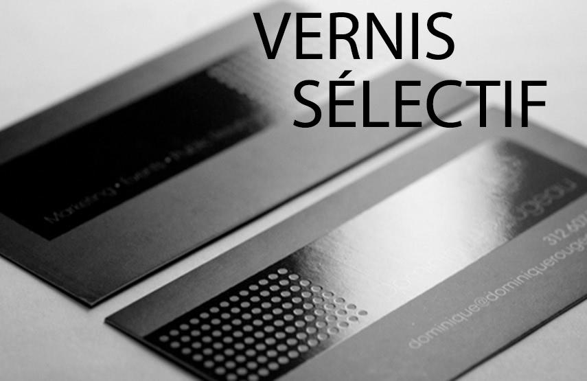 3 Carte De Visite Vernis Selectif
