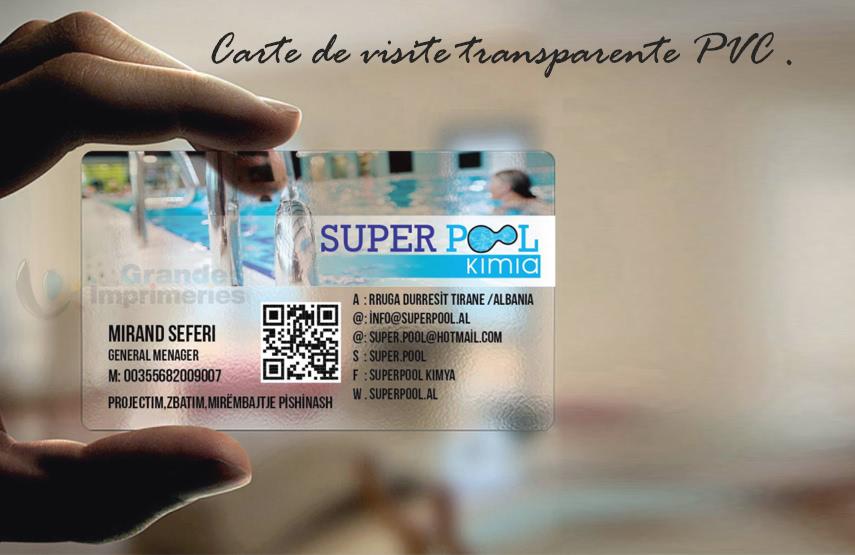 5 Carte De Visite Transparente Pvc