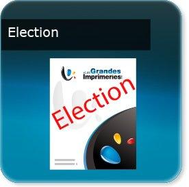 affichette promo Affiche spéciale élection papier recyclé115 gr cyclus print