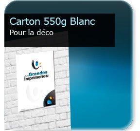 impression Panneaux carton 550g blanc