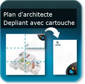affiche orange Plan d'architecte