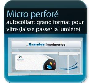 étiquette vin Autocollant microperforé Grand format (laisse passer la lumière)