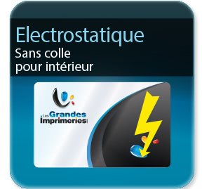 impression autocollant restaurant Electrostatique  -Polypro Stafix ( sans colle )