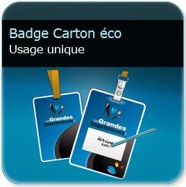 impression Badge papier perforé rond + oblong en 250g mat non adhésif (compatible stylo & imprimante thermique)