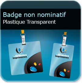 impression Badge plastique transparent polyester 0,55mm Brillant miroir