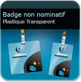 impression Badge plastique transparent polyester 0,55mm Brillant miroir
