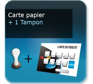 Impression Carte Fidelite Papier Un Tampon Sechage Rapide