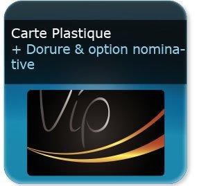 Impression Carte De Fidelite Plastique VIP Nominative