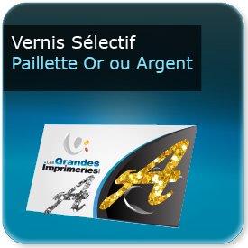 Cartes de visite Vernis sélectif Paillette Or ou Argent