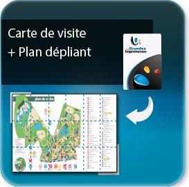 Cartes de visite Carte de visite avec plan de ville 36 pages