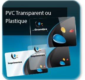 Cartes de visite Carte plastique Transparente / Opaque