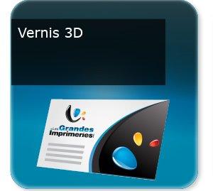 Cartes de visite Vernis UV selectif 3D
