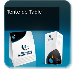impression plaquettes association Tente de table