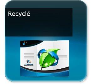 depliant modèle Recyclé écologique