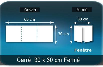 D pliants plaquettes publicitaire 3 volets 6 pages impression couleur recto et verso for Fenetre 30 x 60