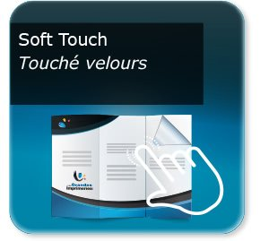 impression plaquettes association Pelliculage Mat SOFT TOUCH