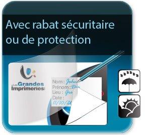 Autocollant & Étiquette Etiquette avec rabat adhésif de sécurité ou de protection