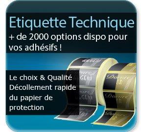 étiquette vin Etiquette adhésive / autocollante technique
