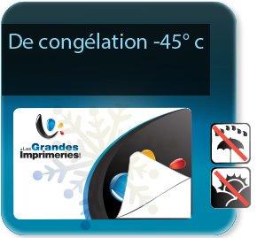 impression Autocollant & Étiquette Etiquette papier de congélation -45+60°c (glace - congélateur - froid - à poser entre -20 à +40 °c)