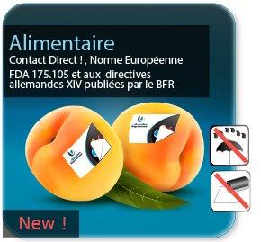 impression Autocollant & Étiquette Etiquette alimentaire papier blanc pour contact alimentaire direct