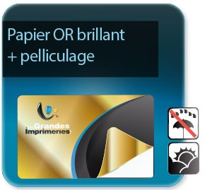 impression Autocollant & Étiquette Etiquettes papier Or brillant + pelliculage