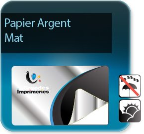 Autocollant & Étiquette Etiquettes papier Argent mat adhésif