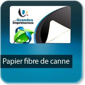 Autocollant & Étiquette Papier écologique canne fibre