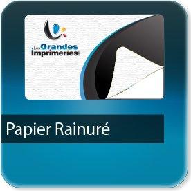 Autocollant & Étiquette Papier rainuré blanc