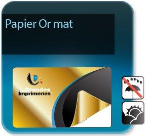 impression Autocollant & Étiquette Etiquettes papier Or Mat