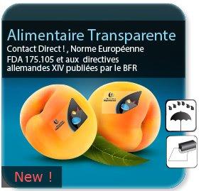 impression Autocollant & Étiquette Etiquette alimentaire transparente pour contact alimentaire direct