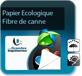 impression Autocollant & Étiquette Etiquettes écologiques - Papier canne fibre