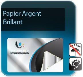 impression Autocollant & Étiquette Etiquettes Argent brillant