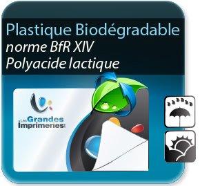 impression Autocollant & Étiquette Etiquette plastique biodégrable & écologique - polyacide lactique - norme bfrXIV (aspect plastique)