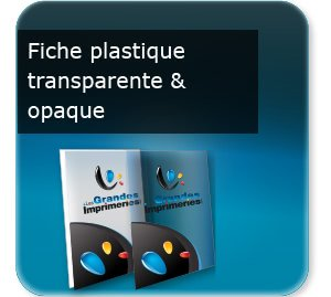 impression composants d un flyer Fiche document en plastique transparent ou opaque