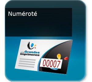 impression composants d un flyer Prospectus ou document numéroté avec numéro incrémenté