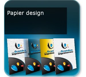 impression composants d un flyer Papier Design