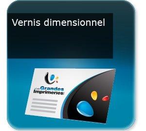 Cartes de visite Vernis dimensionnel