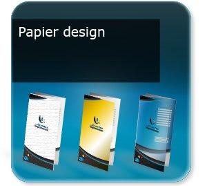 depliant modèle Papier design