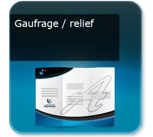 depliant modèle Gaufrage relief