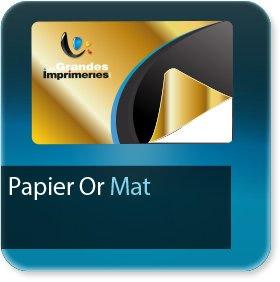 Autocollant & Étiquette Papier Or mat adhésif