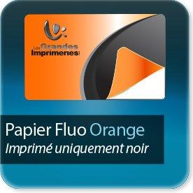 Autocollant & Étiquette Orange fluo