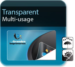 Autocollant & Étiquette Etiquettes transparentes ( plastique polyester )
