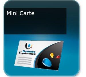Cartes de visite Mini carte de visite